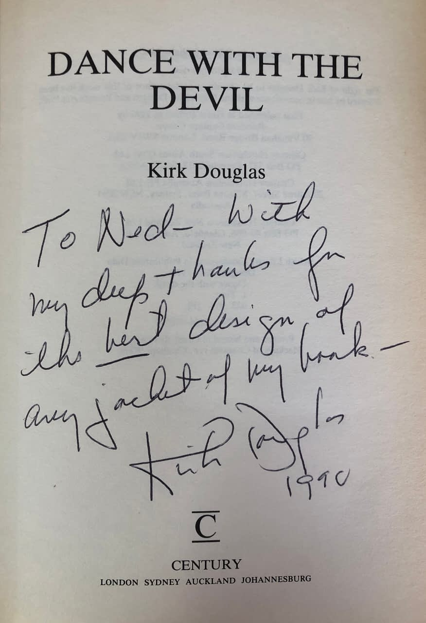 Book sent to me by Kirk Douglas